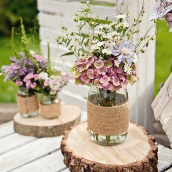 dekoracje ślubne rustykalny ślub w plenerze