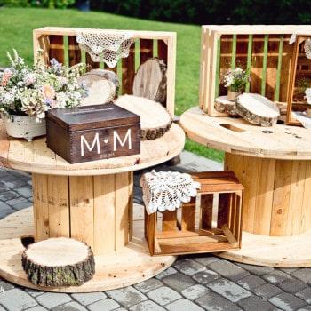 dekoracje ślubne rustykalny ślub