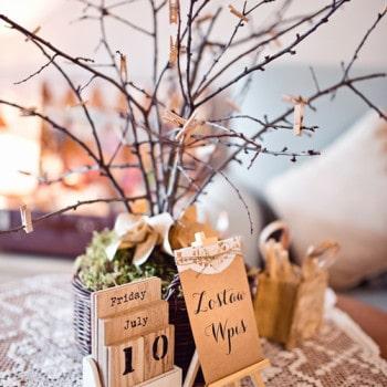 rystykalne wesele dekoracje