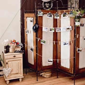 dekoracje ślubne polaroid
