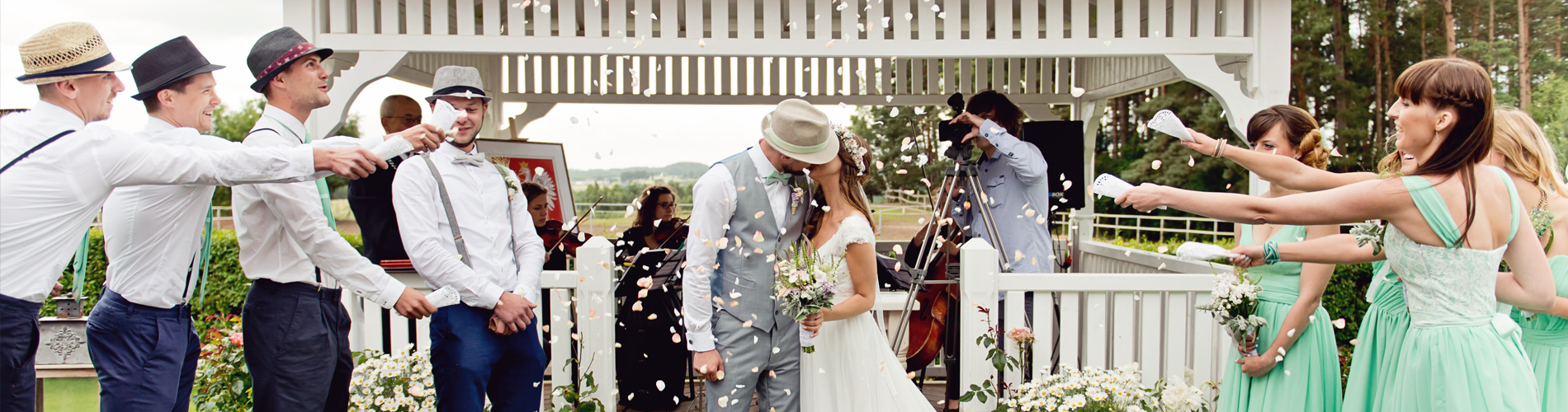 ślub w plenerze altana